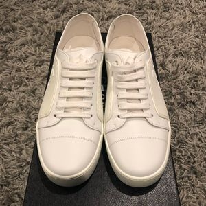 NWT! CHANEL Low Top All White Sneakers Size 7